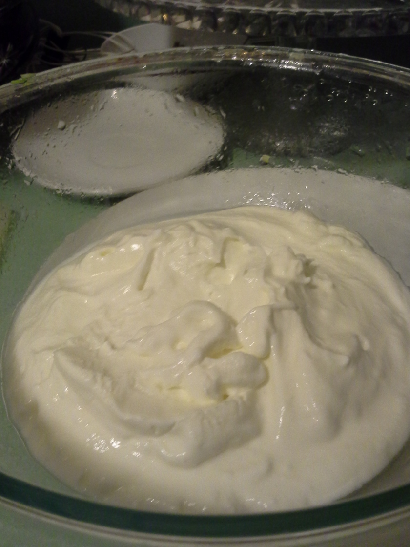 The finished product (drained yogurt)