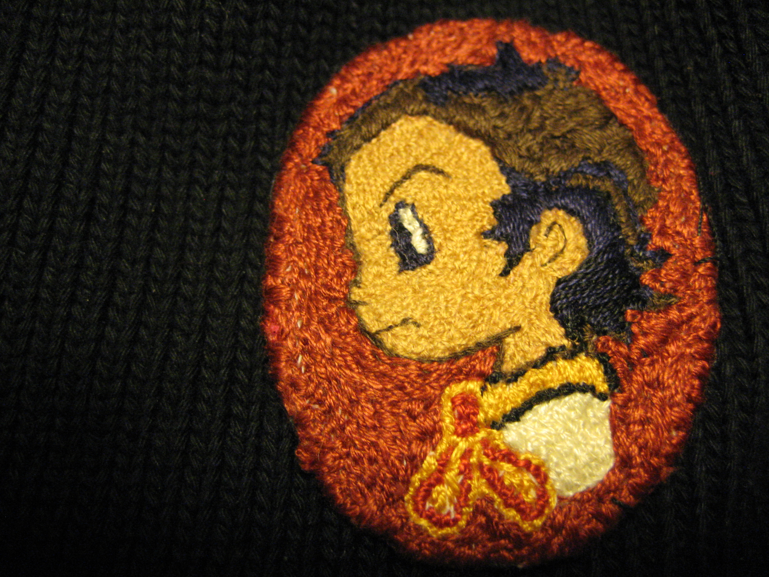 """Renge, from """"Air Master"""" (embroidered free-hand by Christy"""