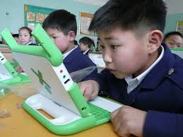 laptop and Asian kids
