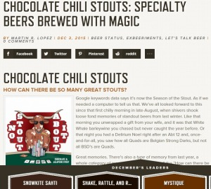 screenshot - chocolate chili stouts